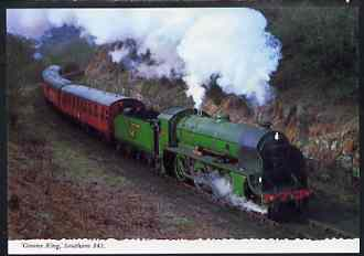 Postcard by Bamforth - full colour showing Southern 'Greene King' No.841, mint & very fine