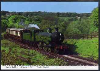 Postcard by Bamforth - full colour showing Atlantic 4-4-2 'Henry Oakley', mint & very fine