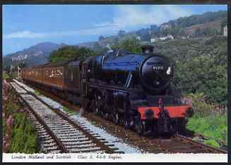 Postcard by Bamforth - full colour showing LMS 4-6-0 Class 5, mint & very fine