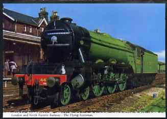 Postcard by Bamforth - full colour showing LNER 4472 'Flying Scotsman', mint & very fine