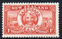 New Zealand 1936 Health - Health Club unmounted mint SG 598