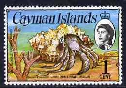 Cayman Islands 1974 Hermit Crab & Coral 1c (upr wmk) unmounted mint, SG 346*