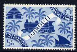 Djibouti 1943 Symbols incl Loco 5c blue unmounted mint, SG 361