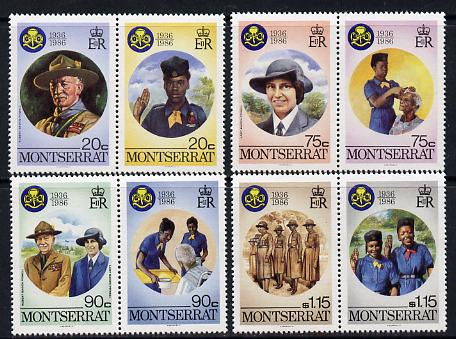 Montserrat 1986 Girl Guides set of 8 unmounted mint, SG 669-76