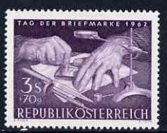 Austria 1962 Stamp Day (Engraving a Die) unmounted mint, SG 1393