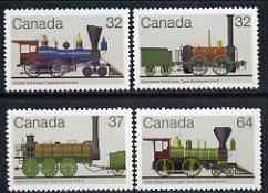 Canada 1983 Railway Locomotives (1st series) set of 4 unmounted mint, SG 1106-09