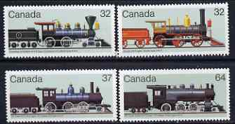 Canada 1984 Railway Locomotives (2nd series) set of 4 unmounted mint, SG 1132-35