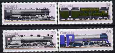 Canada 1986 Railway Locomotives (4th series) set of 4 unmounted mint, SG 1223-26