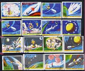 Haiti 1970 Apollo 12 Moon Mission imperf set of 16 fine cto used from limited printing