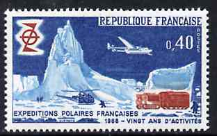 France 1968 French Polar Exploration unmounted mint, SG 1806