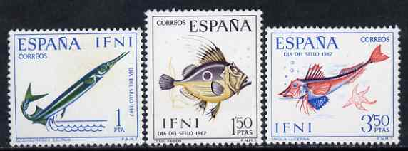 Ifni 1967 Stamp Day (Fish) set of 3 unmounted mint, SG 228-30