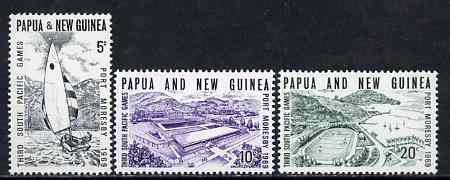 Papua New Guinea 1969 Third South Pacific Games set of 3 unmounted mint, SG 156-58