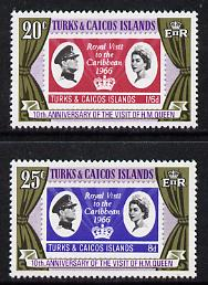 Turks & Caicos Islands 1976 10th Anniversary of Royal Visit set of 2 unmounted mint, SG 466-67