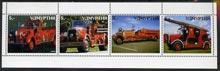 Udmurtia Republic 1999 Fire Engines perf sheetlet containing set of 4 values complete unmounted mint