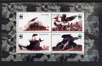Karakalpakia Republic 1998 WWF - John Audubon Birds perf sheetlet containing set of 4 values complete unmounted mint