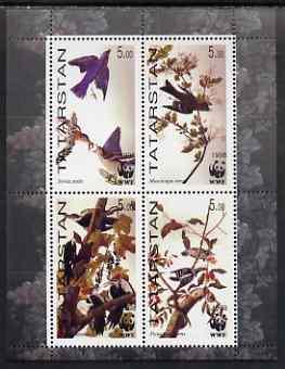 Tatarstan Republic 1998 WWF - John Audubon Birds perf sheetlet containing set of 4 values complete unmounted mint