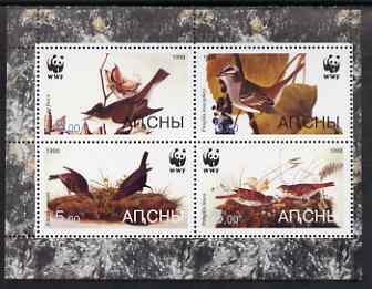 Altaj Republic 1998 WWF - John Audubon Birds perf sheetlet containing set of 4 values complete unmounted mint