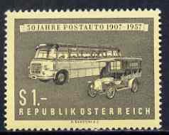 Austria 1957 Postal Coach Service unmounted mint, SG 1291, Mi 1034