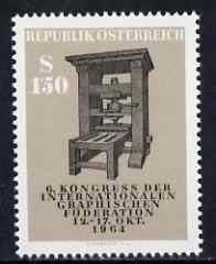Austria 1964 Graphical Federation Congress unmounted mint, SG 1439, Mi 1175