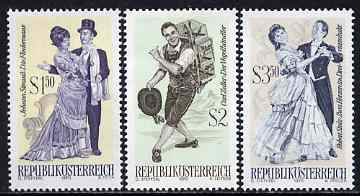 Austria 1970 Famous Operettas #2 set of 3 unmounted mint, SG 1586, 88 & 90, Mi 1338-40