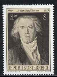 Austria 1970 Birth Bicent of Beethoven unmounted mint, SG 1602, Mi 1352*