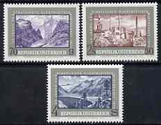 Austria 1972 25th Anniversary of Electric Power set of 3 unmounted mint, SG 1639-41, Mi 1389-91*
