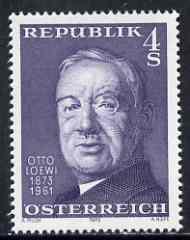 Austria 1973 Otto Loewi (pharmacologist) unmounted mint, SG 1659, Mi 1414*