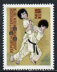 Austria 1975 World Judo Championships unmounted mint, SG 1742, Mi 1493*, stamps on martial-arts, stamps on judo, stamps on sport