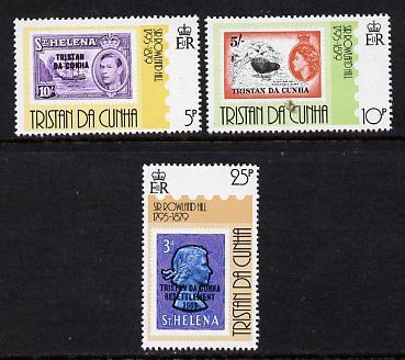 Tristan da Cunha 1979 Rowland Hill set of 3 unmounted mint, SG 264-66