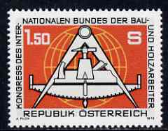 Austria 1978 Federation of Building & Wood Workers unmounted mint, SG 1812, Mi 1579*