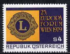 Austria 1979 European Lions Forum (Lions Int) unmounted mint SG 1854, Mi 1624