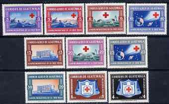 Guatemala 1960 Red cross set of 10 unmounted mint, SG 627-36, Mi 633-42