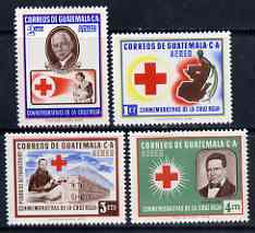 Guatemala 1958 Red cross set of 4 unmounted mint, SG 606-09, Mi 611-14