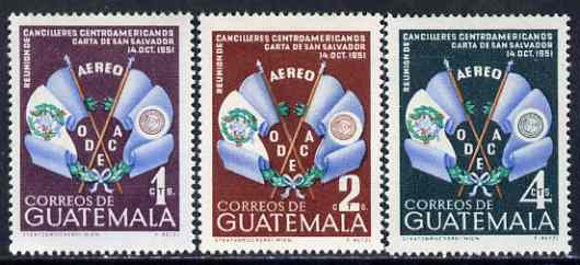 Guatemala 1954 Organization of Central American States set of 3 unmounted mint, SG 566-68, Mi 561-63