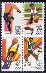 United States 1983 Los Angeles Olympics (2nd issue) set of 4 in se-tenant block unmounted mint, SG A2037a