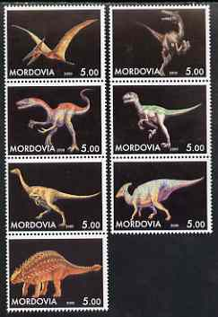 Mordovia Republic 2000 Dinosaurs perf set of 7 values complete unmounted mint