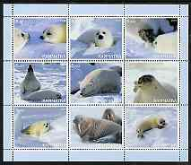 Kamchatka Republic 2000 Seals perf sheetlet containing set of 9 values complete unmounted mint