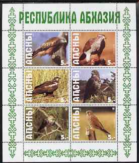 Abkhazia 1999 WWF - Birds of Prey perf sheetlet containing set of 6 values complete unmounted mint