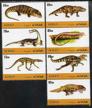 Ajman 2000 Dinosaurs perf set of 7 values complete unmounted mint