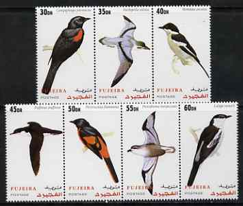 Fujeira 2000 Birds perf set of 7 values complete unmounted mint