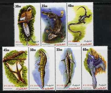 Fujeira 2000 Dinosaurs perf set of 7 values complete unmounted mint