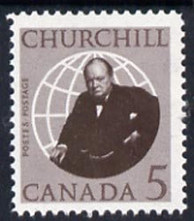 Canada 1966 Churchill 5c unmounted mint, SG 565*