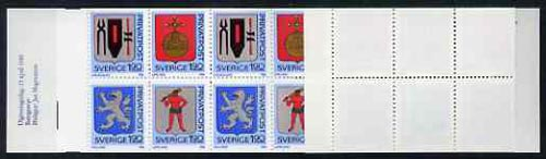 Booklet - Sweden 1986 Rebate Stamps (Arms of Sweden 6th series) 32k booklet complete and very fine, SG SB391