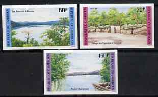Cameroun 1985 Landscapes set of 3 imperf from limited printing unmounted mint, as SG 1044-46