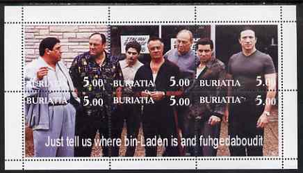 Buriatia Republic 2001 The Sopranos (TV Gangsters) perf sheetlet containing set of 6 values unmounted mint