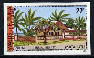 Wallis & Futuna 1977 Post Office 27f (from Buildings & Monuments set) imperf from limited printing, SG 271