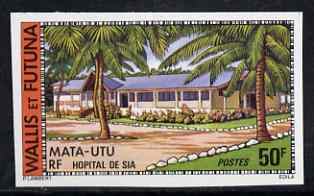 Wallis & Futuna 1977 Sea Hospital 50f (from Buildings & Monuments set) imperf from limited printing, SG 272