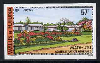 Wallis & Futuna 1977 Govt Building 57f (from Buildings & Monuments set) imperf from limited printing, SG 273