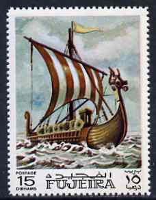 Fujeira 1968 Viking Long boat 15 Dh from Ships perf set of 9 unmounted mint, Mi 234*