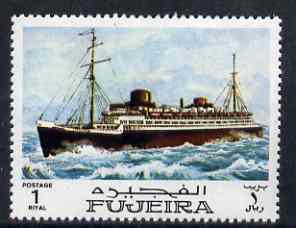 Fujeira 1968 Liner 1R from Ships perf set of 9 unmounted mint, Mi 238*
